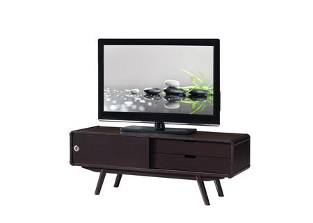 RTA-3636-WN Stylish Wood Veneer 55    TV stand with Door & Storage.