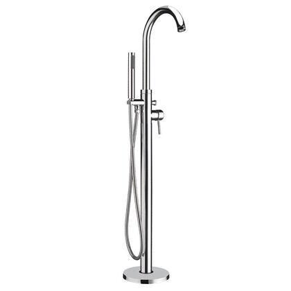 WHT7368S-C Freestanding single lever tub filler with integrated diverter valve and hand held