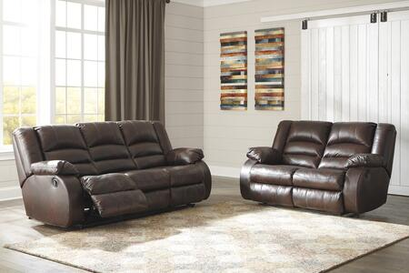 Levelland Collection 17001RSL 2-Piece Living Room Set with Reclining Sofa and Loveseat in Cafe