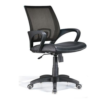 OFC-OFFCR BK Modern Officer Height Adjustable Modern Office Chair with Swivel in