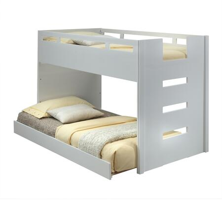Deltana Collection 37470T 2 PC Bedroom Set with Twin Size Loft Bed + Trundle in White