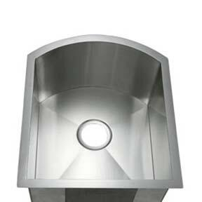 LI-3000-S Celenza 17 1/4 inch  Single Bowl Undermount Kitchen Sink with Soundproofing System and Mounting Hardware in Stainless