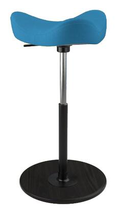 MOVE 2600 DINIMICA 9056 BLK HI BLK 26 inch  - 34 inch  Sit-Stand Chair with Dinimica Upholstery  9056 Color Code  Black Ash Base  High Lift Height and Black Gas