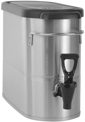 396000066 Oval Style Narrow Low Profile Iced Tea and Coffee Dispenser with 2 Gallons Capacity  Lid  Front - Back Handles  Full-Color Iced Tea Decal and Sump
