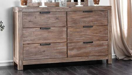 Wynton Weathered Light Oak Wood Dresser by Furniture of America