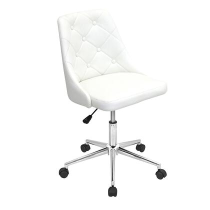 OFC-MARCHE W Marche Height Adjustable Modern Office Chair with Swivel in