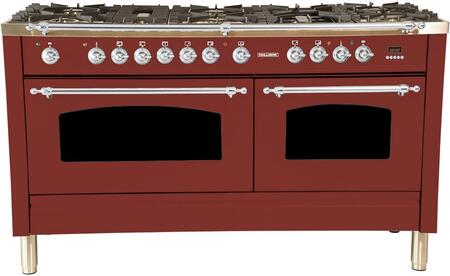 HGR6001DFBG 60 inch  Dual Fuel Natural Gas Range with 8 Sealed Burners  5.99 cu. ft. Total Capacity True Convection Oven  Griddle  in