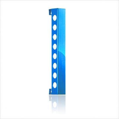 VB8PBL Polished Blue Vertical Wine Rack With Modern and Innovative Designs  Vertically Mounted & In