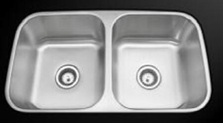 AS 326 32 inch  Stainless Steel Undermount Sink with Brushed