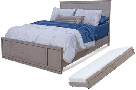 Provo Youth 7300-46PAN-TRN Full Bed and Trundle with Distressed Detailing  Molding Details and Veneer Construction in Driftwood