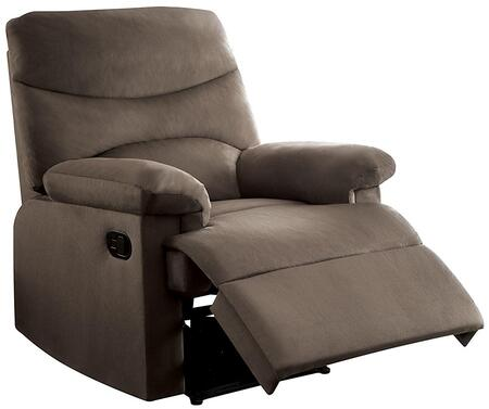 Arcadia Collection 00703 20 inch  Recliner with Pillow Top Arms  External Latch Handle  Metal Reclining Mechanism  Solid Wood Construction and Microfiber Upholstery