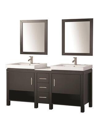-WA6960E Belarus I 60 Double Sink Bathroom Vanity Set
