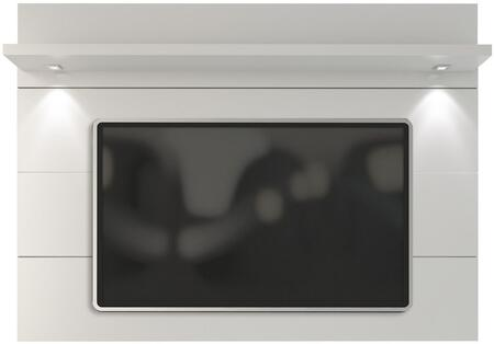 "Cabrini 1.8 Collection 82252 71"" TV Panel with LED Lights and a Shelf in White thumbnail"