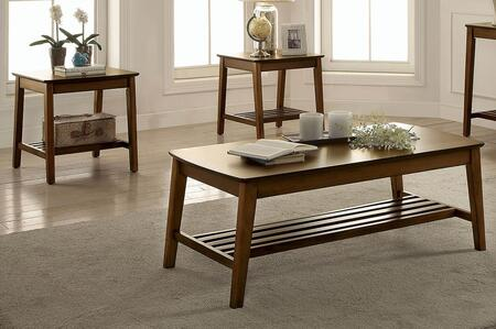 Hattie Collection CM4180-3PK 3-Piece Living Room Table Set with Coffee Table and 2 End Tables in Medium