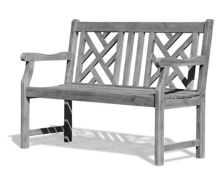 V1624 Renaissance Eco-Friendly 4-Foot Outdoor Garden Bench  Hand-Scraped