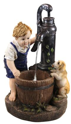GXT469 Boy and Dog Fetching Water Garden Fountain with LED Light  26