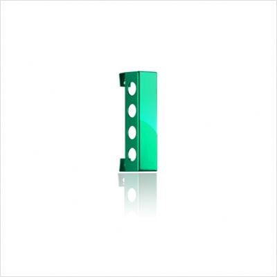 VB4PG Polished Green Vertical Wine Rack With Two Sizes  Modern and Innovative Designs  Vertically Mounted & In