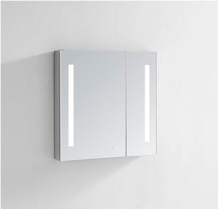 Signature Royale SR3030 30 inch  x 30 inch  Medicine Cabinet with Interior LED Light With Sensor  Touch Screen Buttons for On/Off  Adjustable Dimmer and Defogging Heated