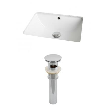 AI-12817 18.25-in. Width x 13.75-in. Diameter CUPC Rectangle Undermount Sink Set In White And