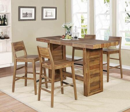 Tucson Collection 182191-S5 5-Piece Bar Table Set with Bar Table and 4 Bar Stools in