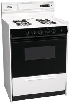 WNM6307DK 24 Freestanding Gas-Natural Gas Range with 4 Open Burners  2.9 Cu. Ft. Capacity  Manual Clean  Clock with Timer & Electronic Ignition  in