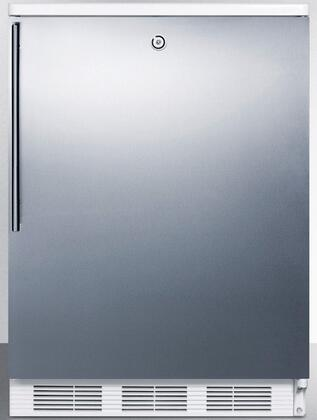 FF6LBISSHV 24 inch  FF6LBI Series Medical Freestanding or Built In Compact Refrigerator with 5.5 cu. ft. Capacity  Front Door Lock  Crisper  Interior Lighting and