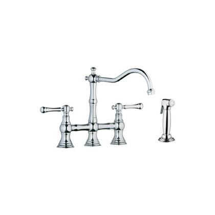 Grohe 20158000 Bridgeford Two-Handle Kitchen Faucet With Side Spray