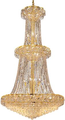 VECA1G36G/EC Belenus Collection Chandelier D:36In H:66In Lt:32 Gold Finish (Elegant Cut
