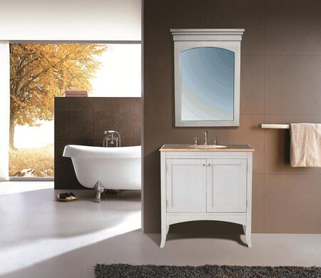 GM-6119-36-TR Stufurhome 36 inch Alyssa Single Sink Vanity with Travertine Marble Top and