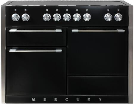 "AMC48INBLK 48"" Freestanding Range with 5 Induction Burners 3700 Watt Boost Three Ovens Hi-Fi Knobs Controls 8-Pass 2500 Watt Broiler and Extendable Gliding"