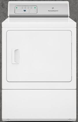 "ADEE9RGS 27"" ADA Compliant Button Control Front Load Electric Dryer with 7.0 Cu. Ft. Capacity  Reversible Door  7 Preset Cycles  Moisture Sensor  Eco Dry"