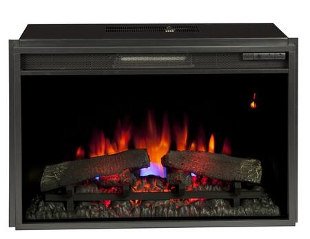 26EF031GRP 26 inch  SpectraFire Plus Electric Fireplace Insert with and Safer Plug  Remote Control  Auto Shut-Off Timer and Translucent Fire Glass Ember Bed in