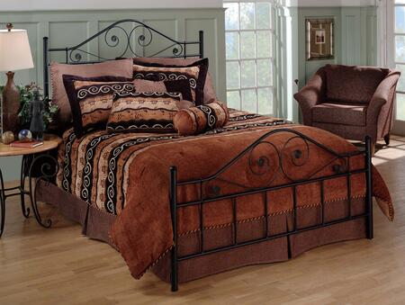 1403BFR Harrison Full Bed with Rails  Metal  Delicate Scrollwork and High Profile Headboard in Textured