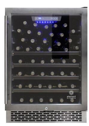 EL54WCGM Wine Cooler with 54 Bottle Capacity  Blue LED Lighting  Smudge Proof Finish  Tempered Glass Door  Digital Temperature Control  in Smoked Black