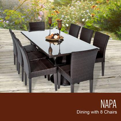 Napa-rectangle-kit-8 Napa Rectangular Outdoor Patio Dining Table With 8 Armless