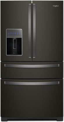 Whirlpool WRX986SIHV 26 Cu. Ft. Black Stainless 4 Door French Door Refrigerator