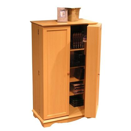 49500 41.5 inch  Multimedia Storage with 2 Doors and 14 Adjustable Shelves in
