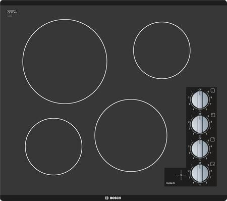 Bosch NEM5466UC 500 Series 24 Black Electric Smoothtop Cooktop