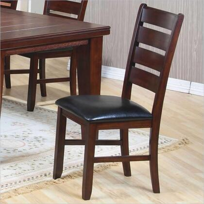 101882 Imperial Side Chair with Upholstered Seat  Ladder Back  Hardwood Solids and Birch Veneers in Rustic Oak
