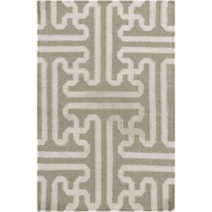 Smithsonian Archive Ach1705-23 2 X 3 Rectangular 100% Wool Hand Woven Reversible Area Rug With No Pile  No Shedding  And Hand Made In India In Beige And