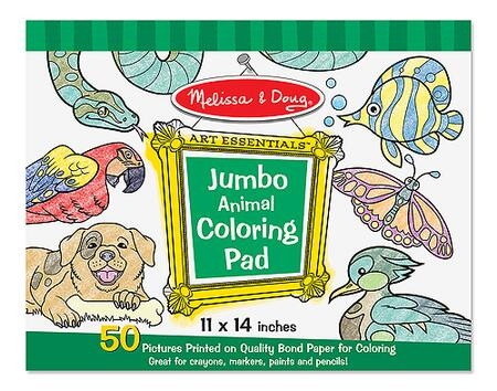 4200 14 inch  x 11 inch  Jumbo Bond Paper Coloring Pad with Easy Tear Pages -