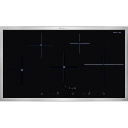 "E36IC80QSS 36"" Designer Series Induction Cooktop with 5 Zones Power Assist Function Cooking Timer Keep Warm Setting Blue LED Indicator Light and Black"