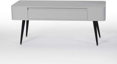 "Edge Collection 124903 40"" TV Console with 1 Wide Drawer and Short Tapered Legs in Black and"