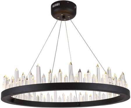 1705D26SDG 1705 Malta Collection Chandelier L:26 In W:26In H:5In Lt:32 Satin Dark Grey Finish (Royal Cut