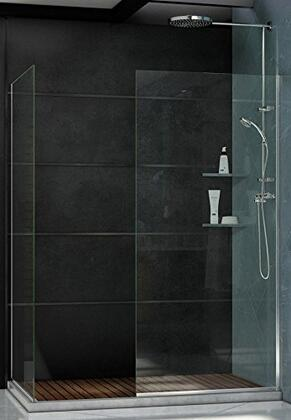 SHDR-3234302-06 Linea Frameless Shower Door. Two Glass Panels: 30 in. x 72 in. and 34 in. x 72 in. Oil Rubbed