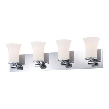 BV2064-10-15 Flare 4 Light Vanity White Opal Glass / Chrome 521803