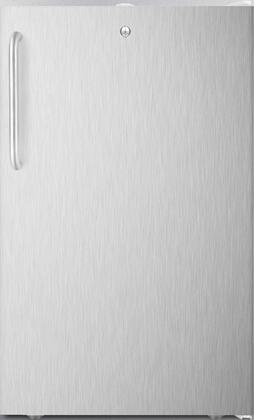 FS407L7BISSTBADA 20 inch  ADA Compliant Upright Freezer with 2.8 cu. ft. Capacity  4 Pull-Out Storage Drawers  Reversible Door  Factory Installed Lock and Manual