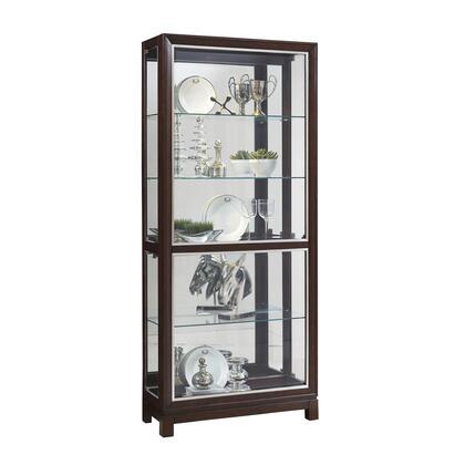 P021601 Park Avenue Nickel Inlay Display Cabinet In