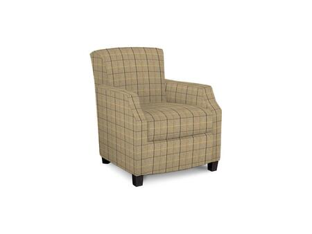 Comiskey Connection 1149-02/BE91-8 28 inch  Accent Chair with Fabric Upholstery  Tapered Wood Legs  Tight Back and Contemporary Style in Woven Plaid