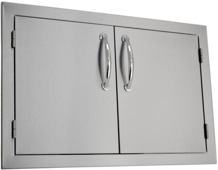 SODX2AD30 Built-in Deluxe Double Door with .375 inch  Self-Rimming Trim Bezel  Raised Reveal Design  Easy to Gasp Handles and Premium Stainless Steel